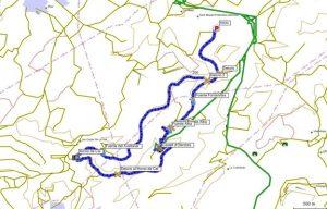 Mapa de la excursion